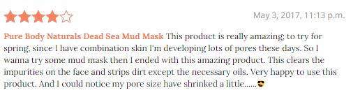 Pure naturals dead sea mask review